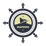Nautical, Sailor logo design template royalty free stock photography