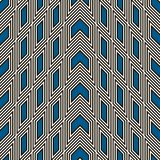 Simple modern print with arrows and pointers. Outline seamless pattern with geometric figures. Contemporary background. Stock Images