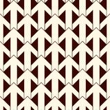 Simple modern print with interlocking arrows. Contemporary abstract background with repeated pointers. Seamless pattern. With geometric figures. Creative Royalty Free Stock Photos