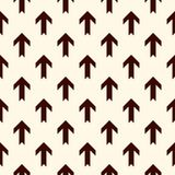 Simple modern print with interlocking arrows. Contemporary abstract background with repeated pointers. Seamless pattern. With geometric figures. Creative Royalty Free Stock Photo