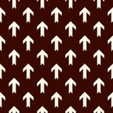 Simple modern print with interlocking arrows. Contemporary abstract background with repeated pointers. Seamless pattern. With geometric figures. Creative Royalty Free Stock Image
