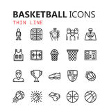 Simple modern set of Basketball icons. Stock Images
