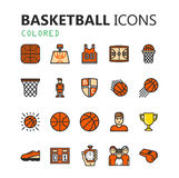 Simple modern set of Basketball icons. Royalty Free Stock Photo