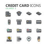 Simple modern set of credit card icons. Eps 10 Royalty Free Stock Photos