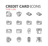 Simple modern set of credit card icons. Eps 10 Stock Image