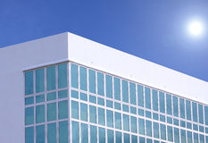 Simple modern stylish white building Stock Photos