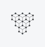 Simple molecule icon on white background. Simple molecule icon. eps8. On layers vector illustration