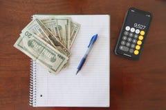 Simple Money Flatlay royalty free stock photo