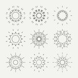 Simple monochrome geometric abstract symmetric Stock Image