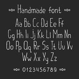 Simple monochrome hand drawn font. Complete abc Royalty Free Stock Photos