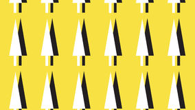 Simple monochrome and yellow arrow head pattern Stock Images
