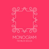 Simple  monogram design template, Elegant line art logo design, Royalty Free Stock Photos