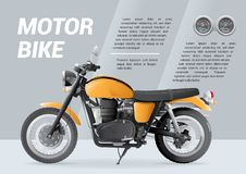 Motorbike brochure template with speedometer royalty free illustration