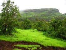Simple Mountain Landscape Stock Image