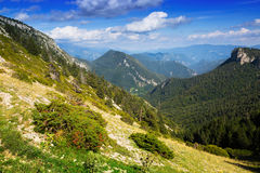 Simple mountains landscape Royalty Free Stock Photo
