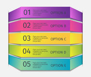 Simple multicolor 3d line 5 steps icons infographics mockup template. Infographic background concepts collection. Stock Images