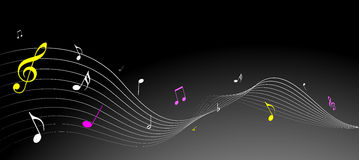 Simple music notes Royalty Free Stock Photos