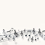 Simple Music Notes. Abstract bright background with simple music notes Royalty Free Stock Image