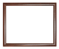 Simple narrow dark brown wooden picture frame Royalty Free Stock Images