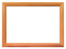 Simple narrow picture frame isolated on white stock photo
