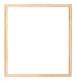 Simple narrow unpainted wooden picture frame Stock Photo