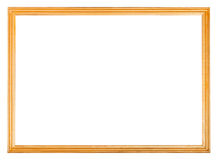 Simple narrow wooden picture frame Royalty Free Stock Images