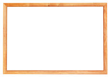 Simple narrow wooden picture frame Royalty Free Stock Image