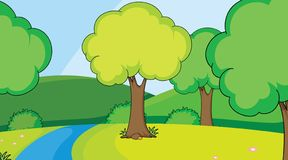 A simple nature scene. Illustration royalty free illustration