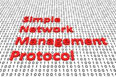 Simple Network Management Protocol. In the form of binary code, 3D illustration Royalty Free Stock Photos