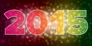 Simple New Year 2015 illustration Royalty Free Stock Photos