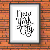 Simple New York City Concept on a Hanging Frame Royalty Free Stock Photography