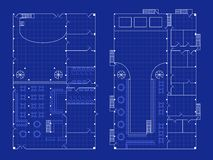 Simple nightclub blueprint Stock Photos
