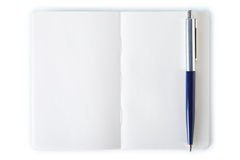 Simple note book with pen. Royalty Free Stock Photography