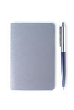 Simple note book with pen. Clipping path. Stock Image