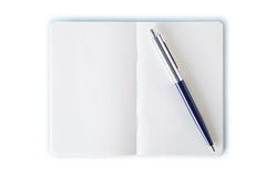 Simple note book with pen. Clipping path. Stock Photos