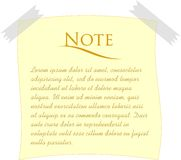 Simple note paper. Vector illustration of a note paper Stock Photos