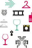 Simple objects royalty free illustration