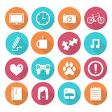 Simple Objects Icons. Vector works, Simple objects Icons Stock Photo