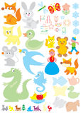 Simple objects for kindergarten Royalty Free Stock Photo