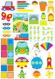 Simple objects for kindergarten stock illustration