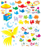 Simple objects for kindergarten vector illustration