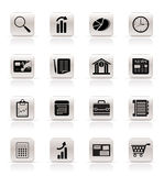 Simple and Office Realistic Internet Icons Stock Photos