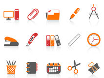 Simple office tools icon. Isolated simple color office tools icon on white background Stock Images