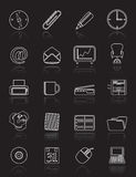 Simple Office tools icons Stock Photography