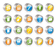 Simple Office tools Icons Stock Image
