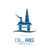 Simple oil rig, conceptual icon Stock Photo
