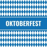 Simple oktoberfest card. With rhombus vector illustration