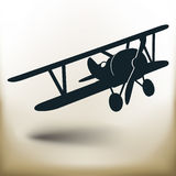 Simple old airplane Royalty Free Stock Photography