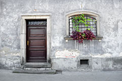 Simple old house facade. Stock Photos