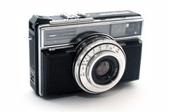 Simple Old photo machine. Old timer photo machine over white royalty free stock images